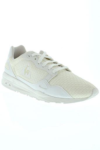 le coq sportif chaussures homme de couleur blanc