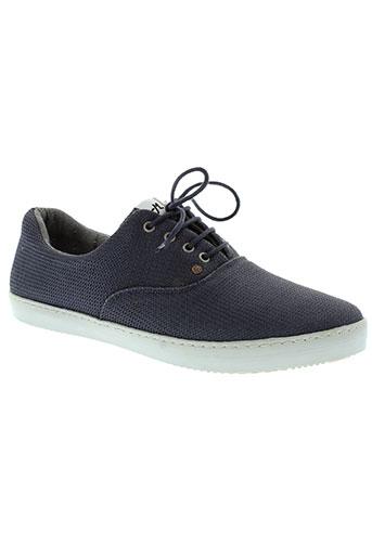 mascaret chaussures homme de couleur bleu