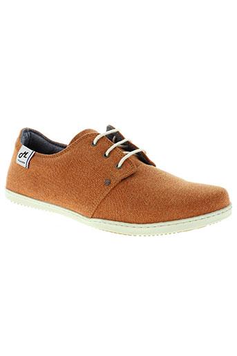 mascaret chaussures homme de couleur orange