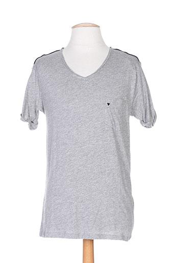 T-shirt manches courtes gris DEEPEND pour homme