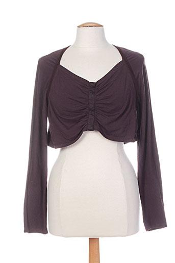 eliane et lena vestes femme de couleur violet