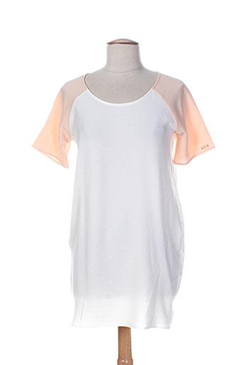 Robe courte blanc COQUELICOT pour femme