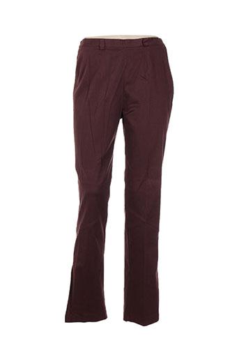 altina pantalons femme de couleur rouge