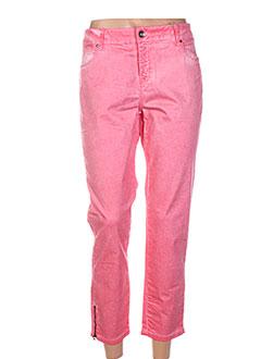 Pantalon 7/8 rouge ET COMPAGNIE pour femme