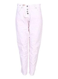 Pantalon 7/8 rose ET COMPAGNIE pour femme