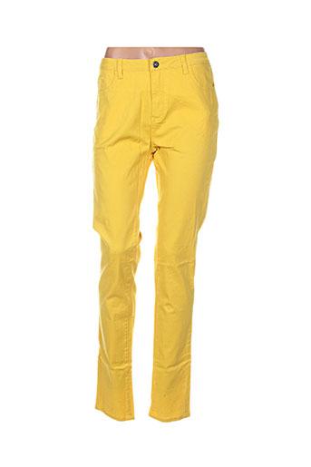 vila pantalons femme de couleur jaune