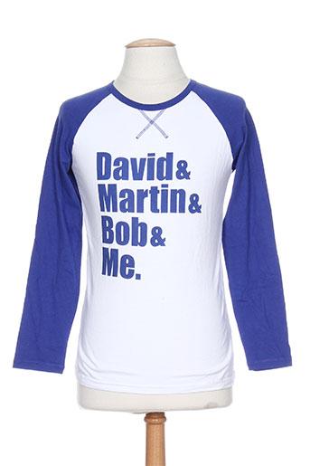 T-shirt manches longues bleu BOB SINCLAR pour homme