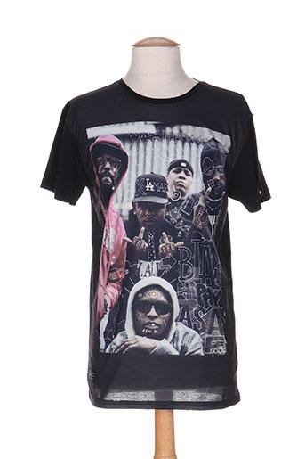 T-shirt manches courtes noir TRIANGLE pour homme