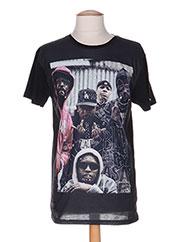 T-shirt manches courtes noir TRIANGLE pour homme seconde vue