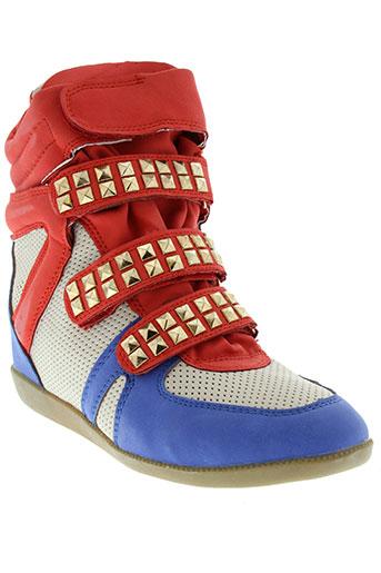 coco perla chaussures femme de couleur rouge