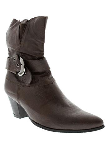 lorena et paris boots femme de couleur marron