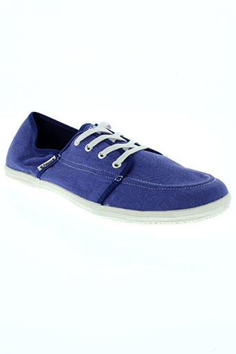 feiyue baskets homme de couleur bleu