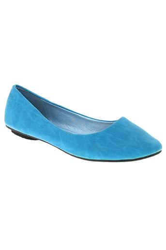 foli folio chaussures femme de couleur bleu