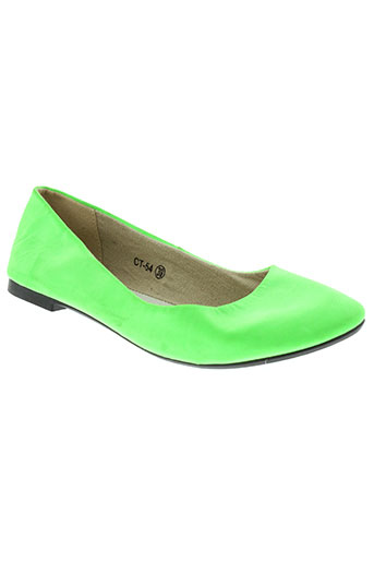 c'm paris chaussures femme de couleur vert