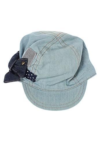 catimini casquettes fille de couleur bleu