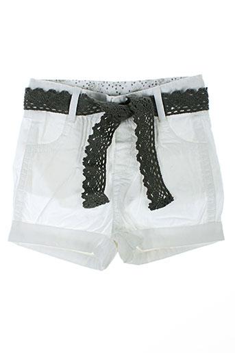 3 pommes shorts / bermudas fille de couleur blanc