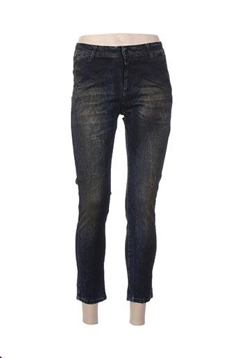 think chic jeans femme de couleur bleu