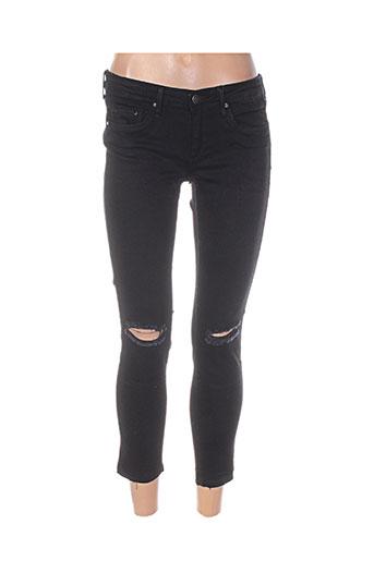 tiffosi pantalons femme de couleur noir