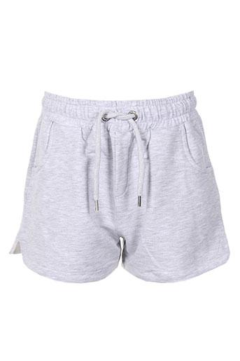 chillaround shorts / bermudas fille de couleur gris