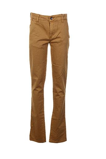 garcia pantalons garçon de couleur marron