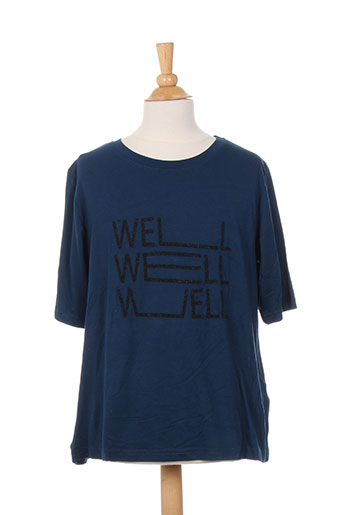 chillaround t-shirts fille de couleur bleu