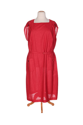 jean biolay robes femme de couleur rouge