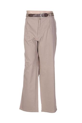 pionier pantalons homme de couleur beige