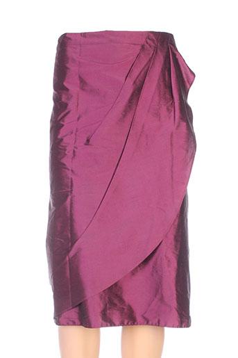 linea raffaelli jupes femme de couleur violet