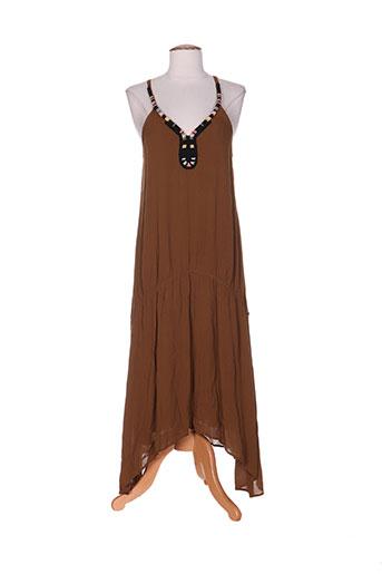 ikks robes femme de couleur marron