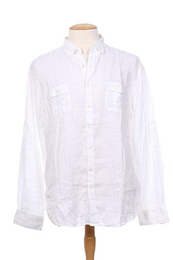 gant chemises homme de couleur blanc