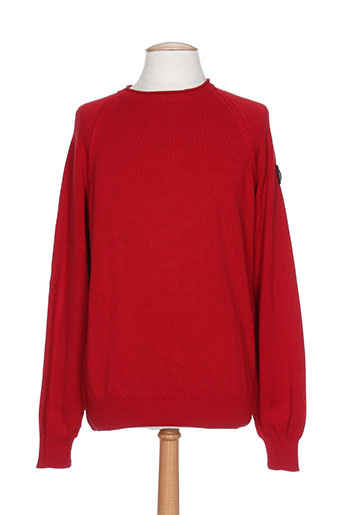 marina yachting pulls homme de couleur rouge