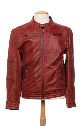 rino EFFI_CHAR_1 pelle vestes homme de couleur marron