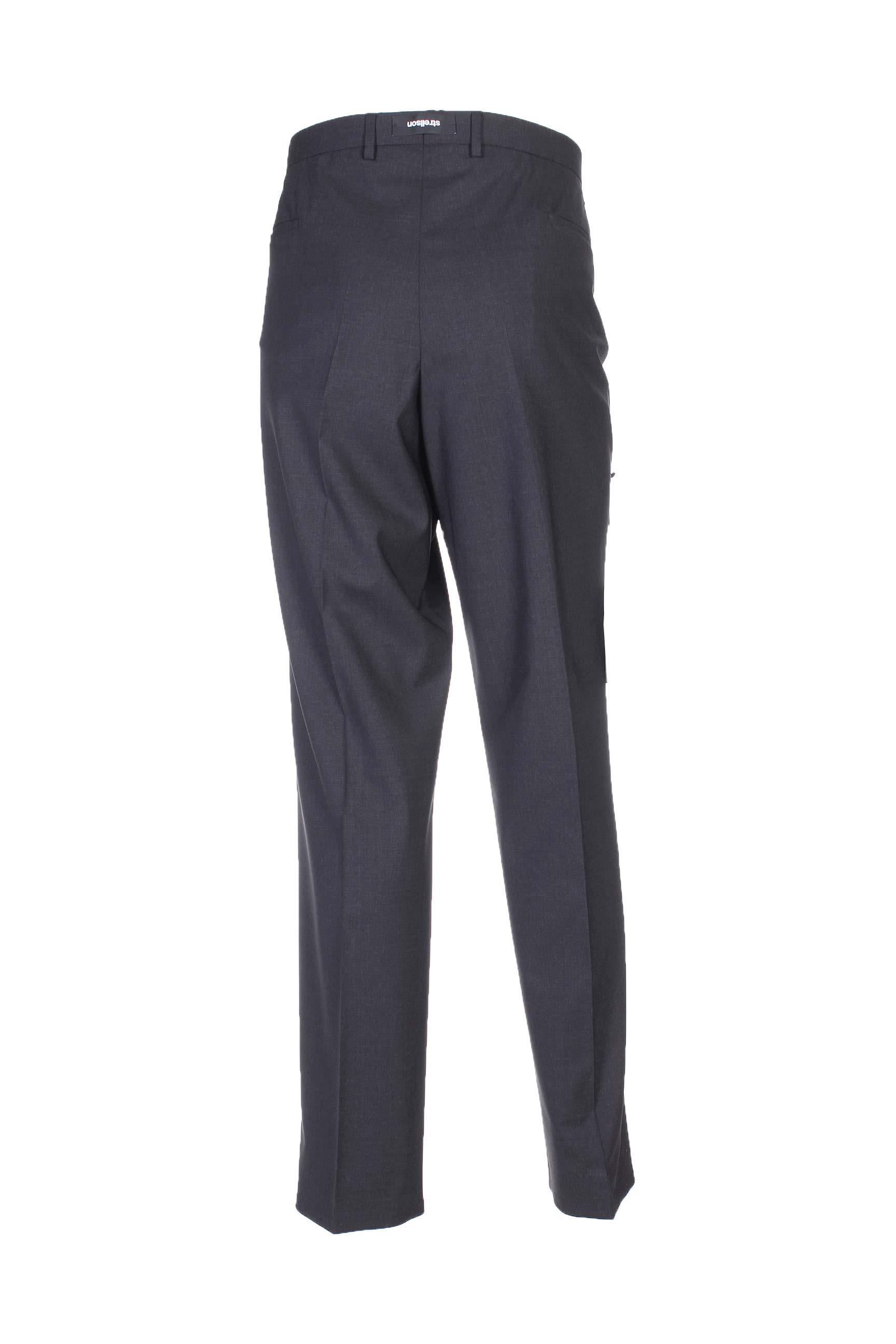 Strellson Pantalons Citadins Homme De Couleur Gris En Soldes Pas Cher 1011372-gris00