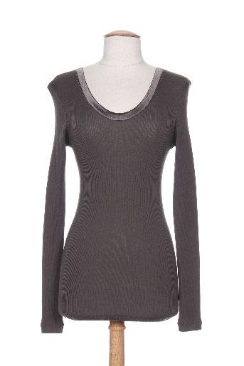 arti maglia chemises femme de couleur marron