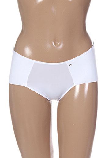 liz lingerie femme de couleur blanc