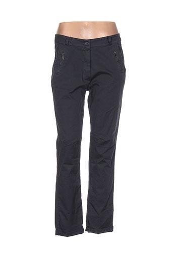 giulia notte pantalons femme de couleur gris