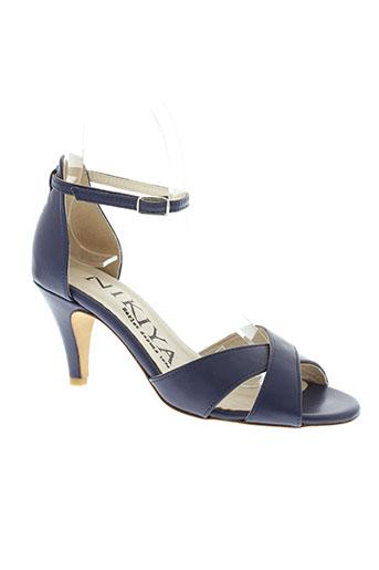 nikiya chaussures femme de couleur bleu