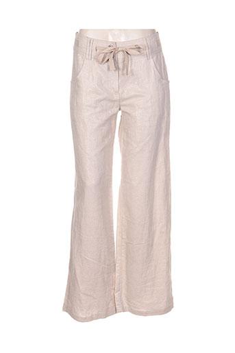 deca pantalons femme de couleur beige