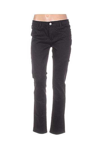 diego reiga pantalons homme de couleur noir