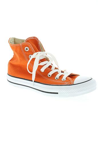 converse chaussures unisexe de couleur orange