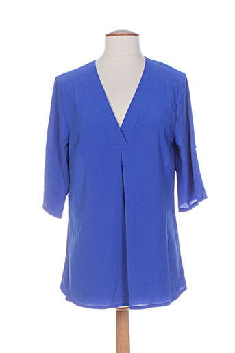 akoz tuniques femme de couleur bleu
