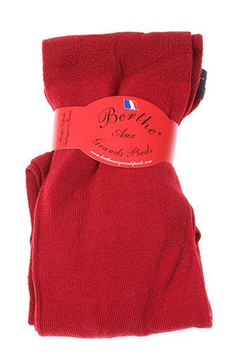 berthe et aux et grands et pieds bas et collants femme de couleur rouge