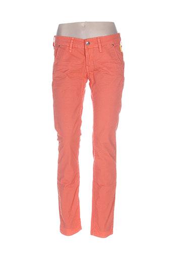 meltin'pot pantalons femme de couleur orange