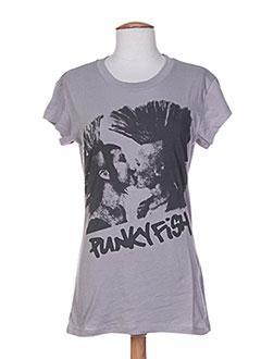 Produit-T-shirts / Tops-Femme-PUNKY FISH