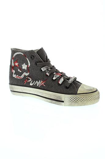 2 stars chaussures garçon de couleur gris