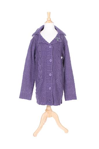 cerise little gilets fille de couleur violet