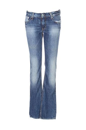 cerise little jeans fille de couleur bleu