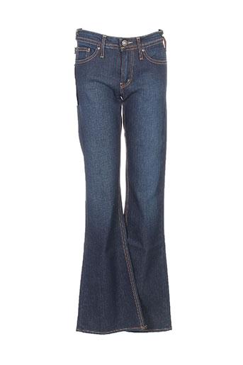 cimarron jeans fille de couleur bleu