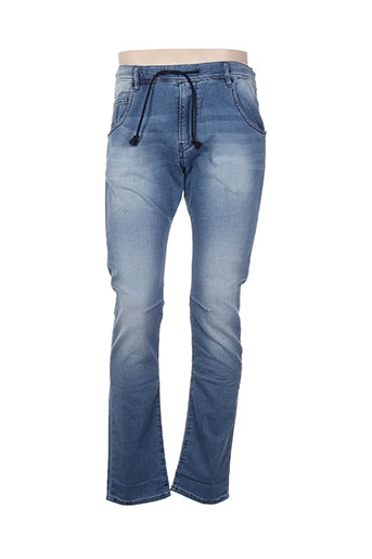 chefdeville jeans homme de couleur bleu