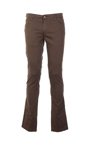 gaudi pantalons homme de couleur marron